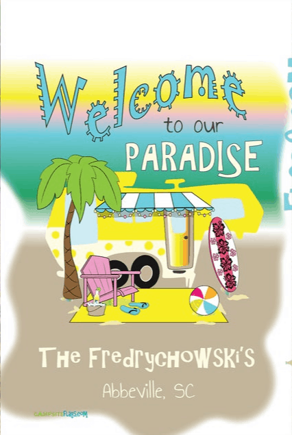 Campsite Flag Paradise Etsy