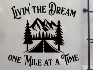 Livin the dream camper vinyl