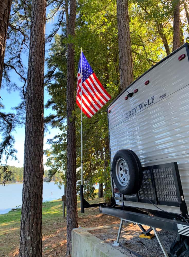 camper flagpole