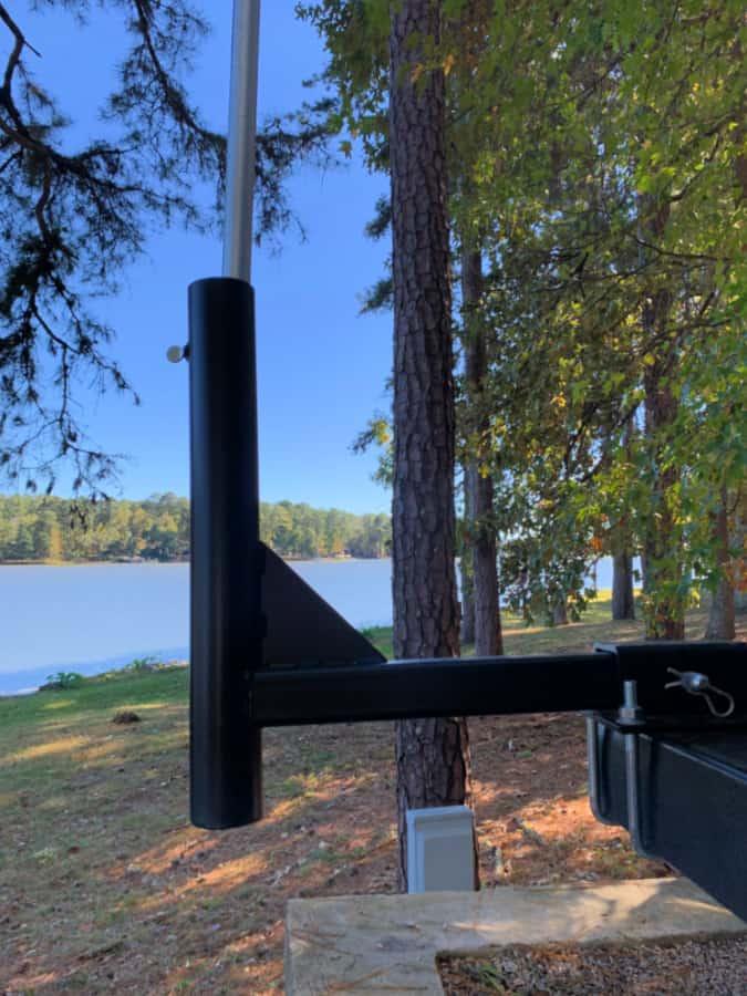 camper flagpole holder