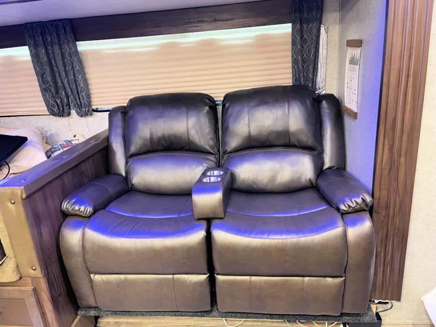 Finished RV sofa
