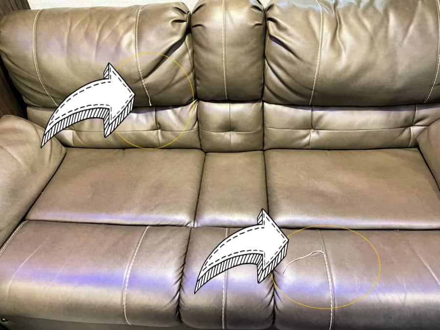 Original RV sofa